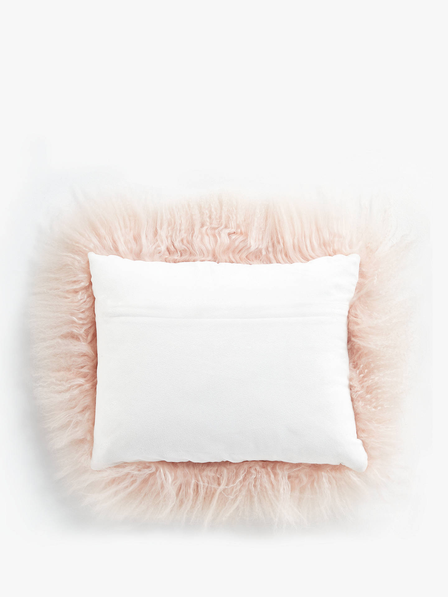 Buy John Lewis & Partners Mongolian Cushion, Blush Online at johnlewis.com