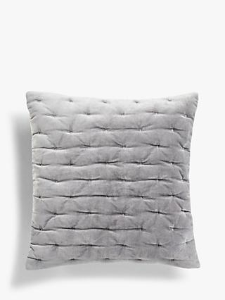 John Lewis & Partners Velvet Stitch Large Cushion