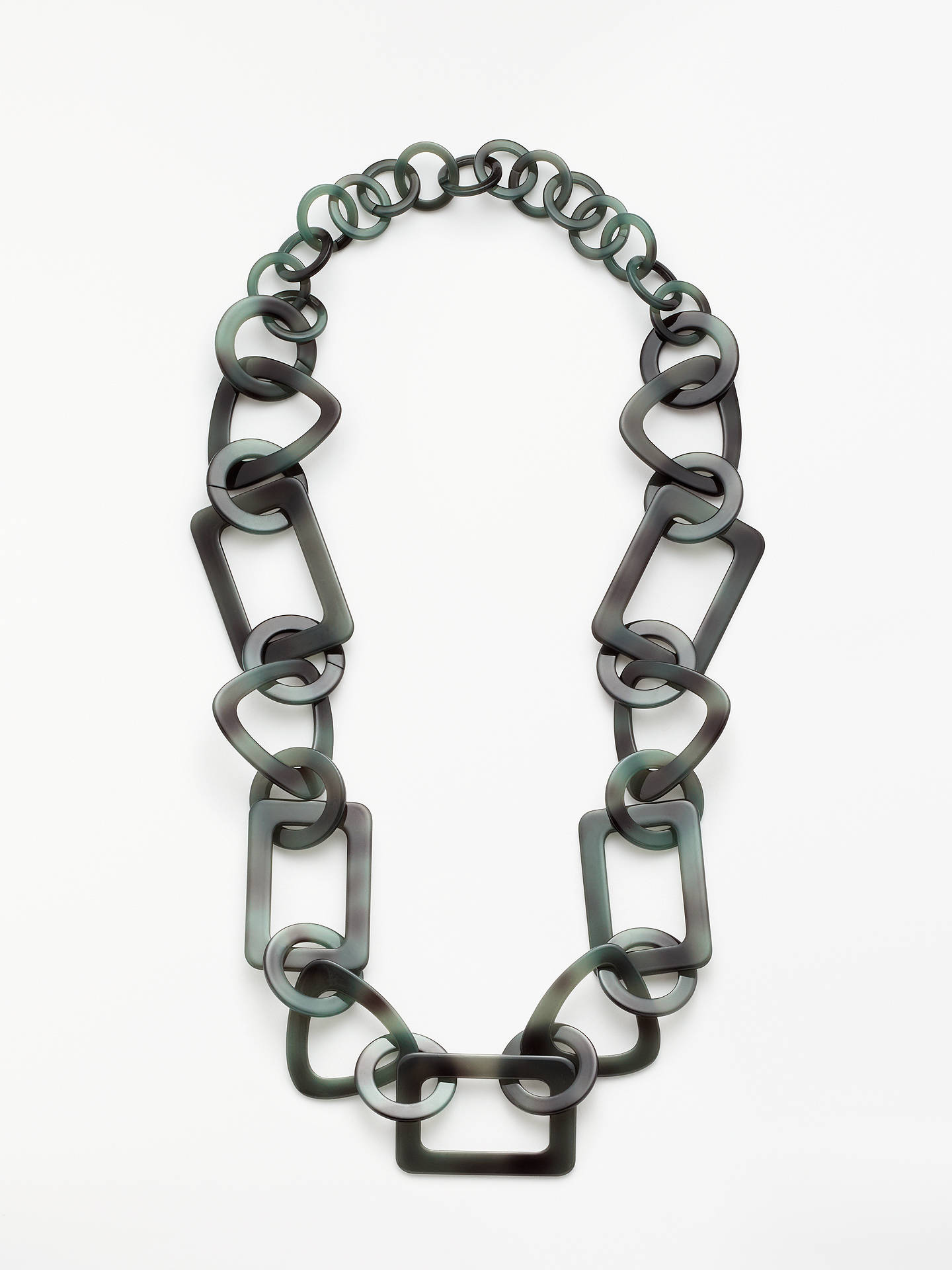 Buy John Lewis & Partners Geometric Acrylic Chain Necklace, Black Online at johnlewis.com