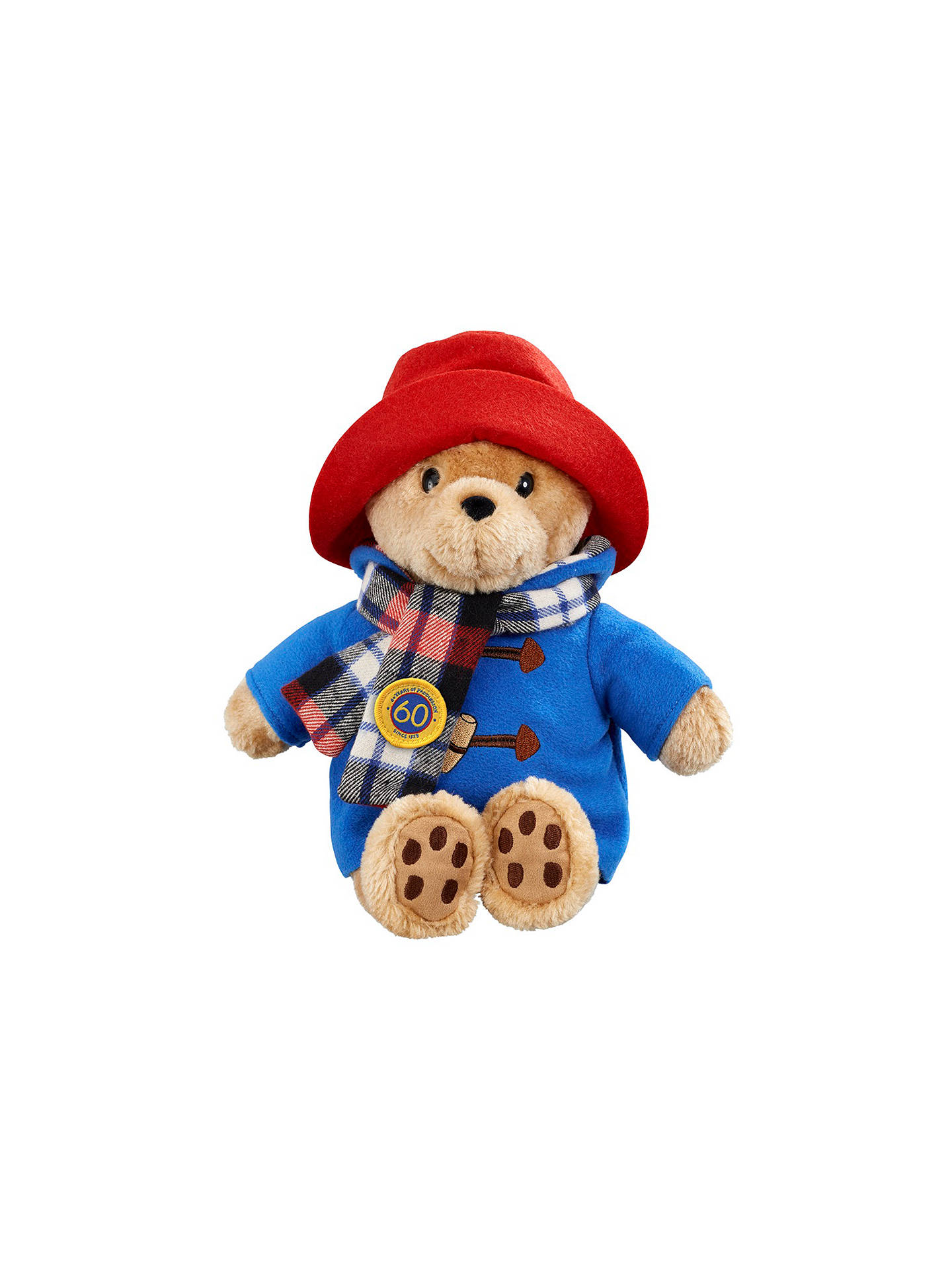 Buy Paddington Bear 60th Anniversary Padding With Scarf Soft Toy Online at johnlewis.com