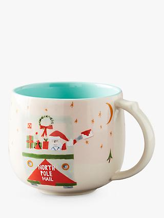 Anthropologie Santa North Pole Mug, Multi, 400ml