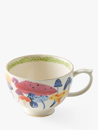 Anthropologie Astian Mushroom Mug, 396ml, White/Multi