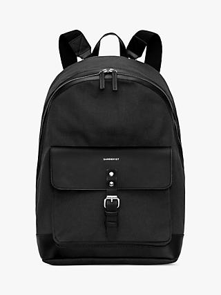Sandqvist Andor Grand Organic Cotton Canvas Backpack, Black