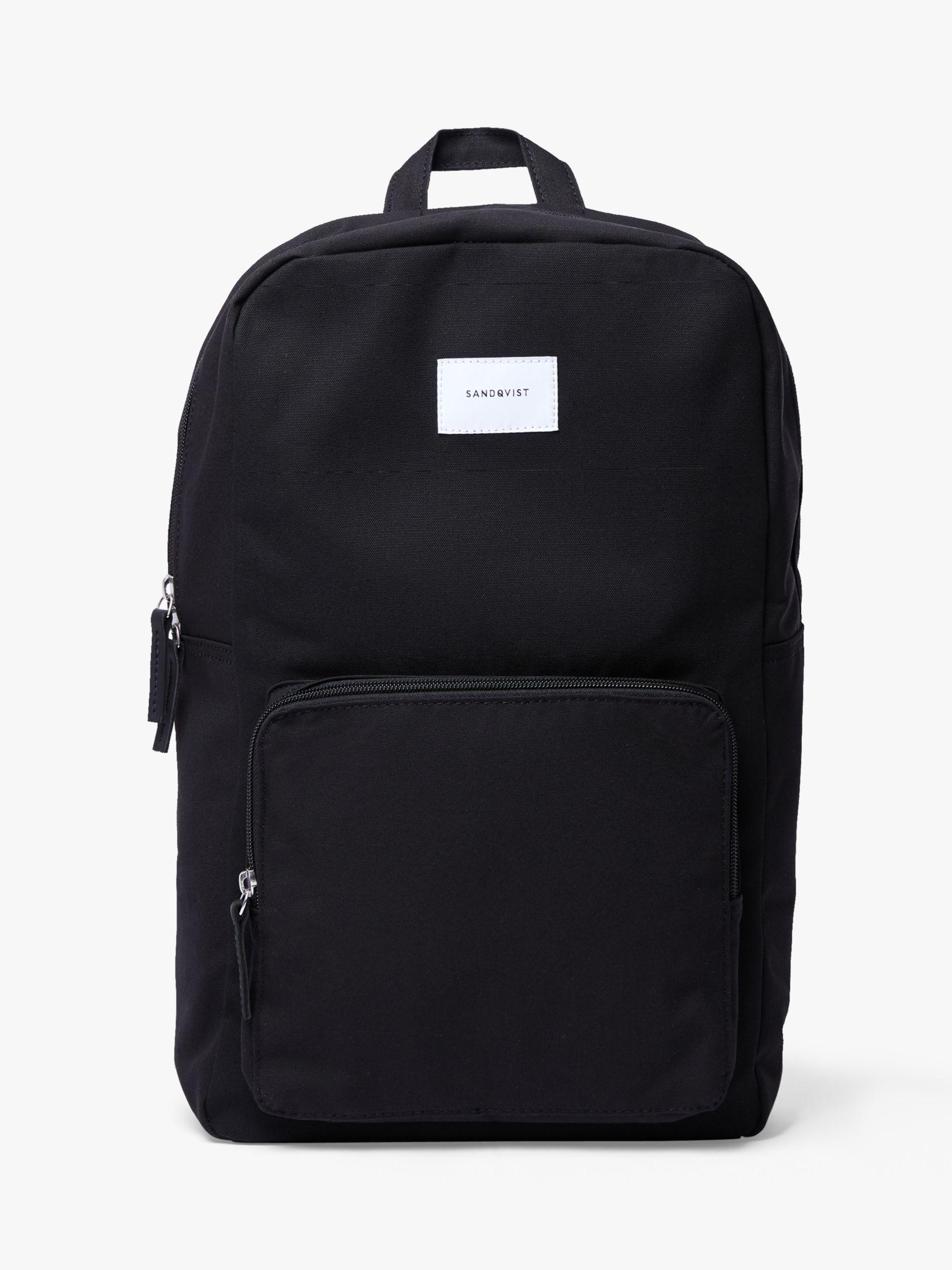 Sandqvist Sandqvist Kim Grand Organic Cotton Backpack, Black