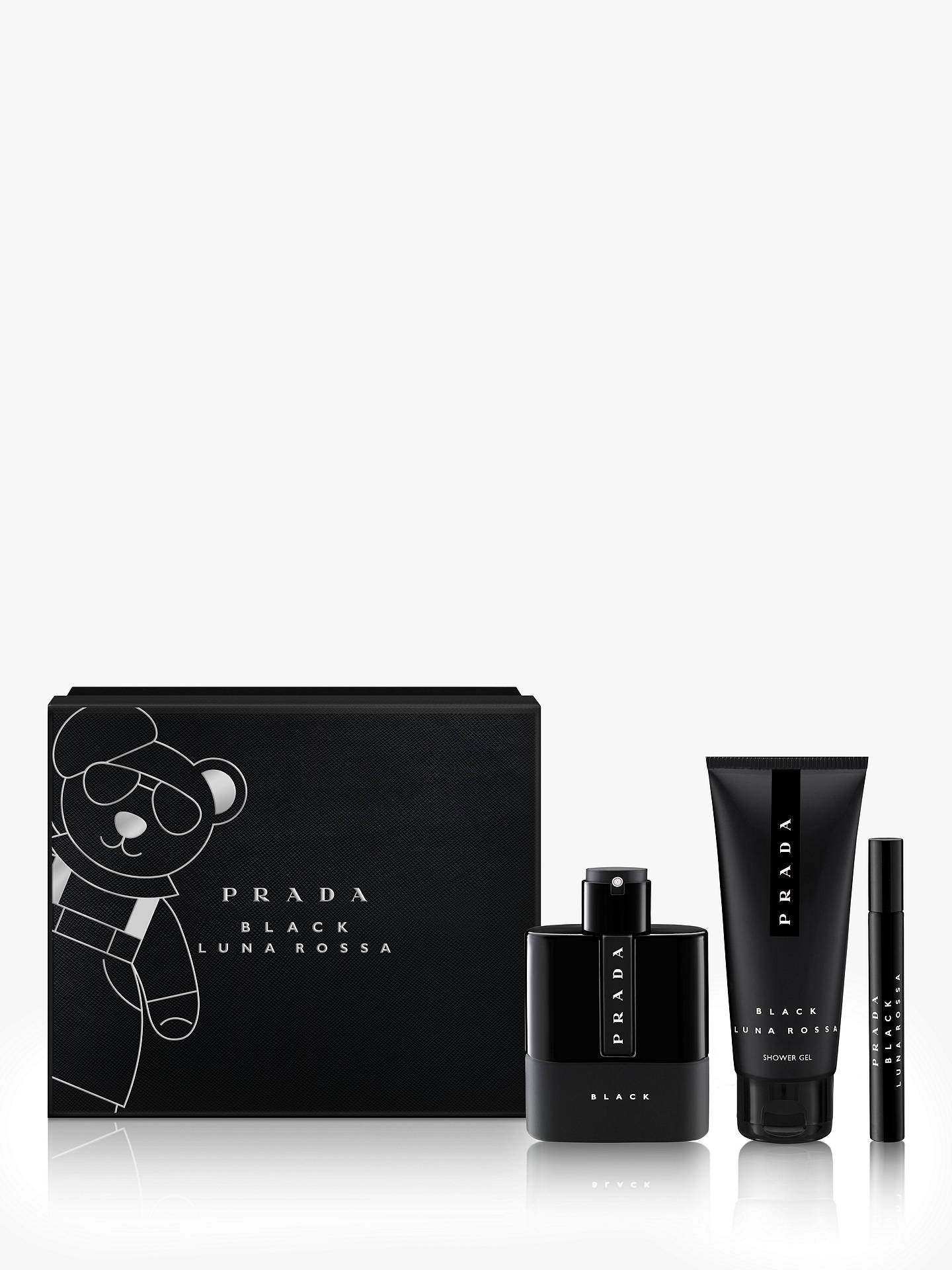 BuyPrada Luna Rossa Black 100ml Eau de Parfum Fragrance Gift Set Online at johnlewis.com