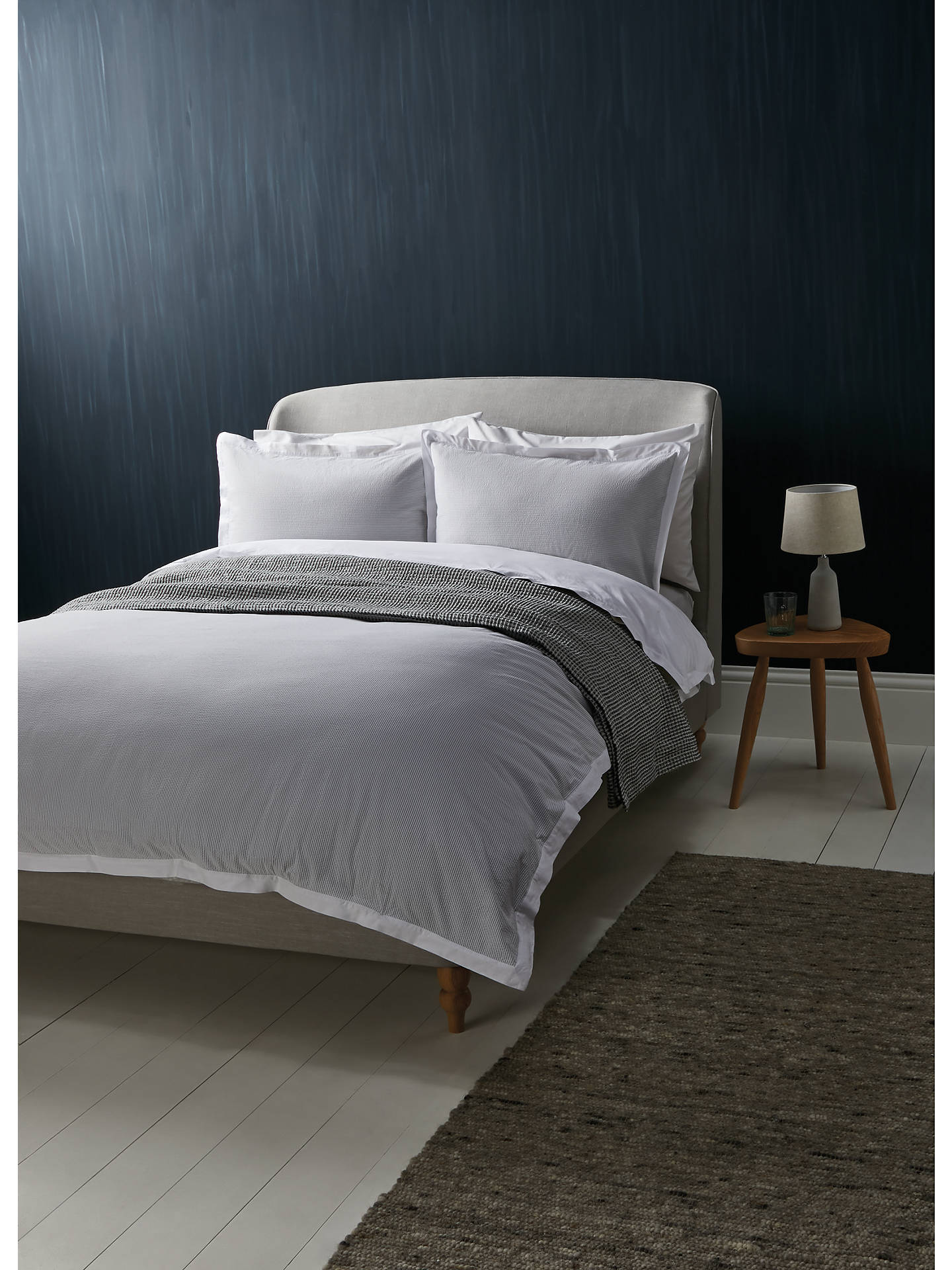 Buy Croft Collection Patchwork Stripe Quilted Bedspread, Grey Online at johnlewis.com