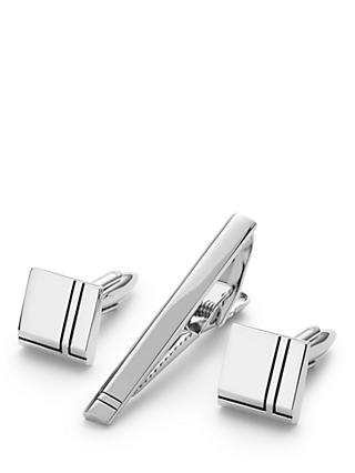 John Lewis & Partners Cufflink And Tie Slide Gift Set