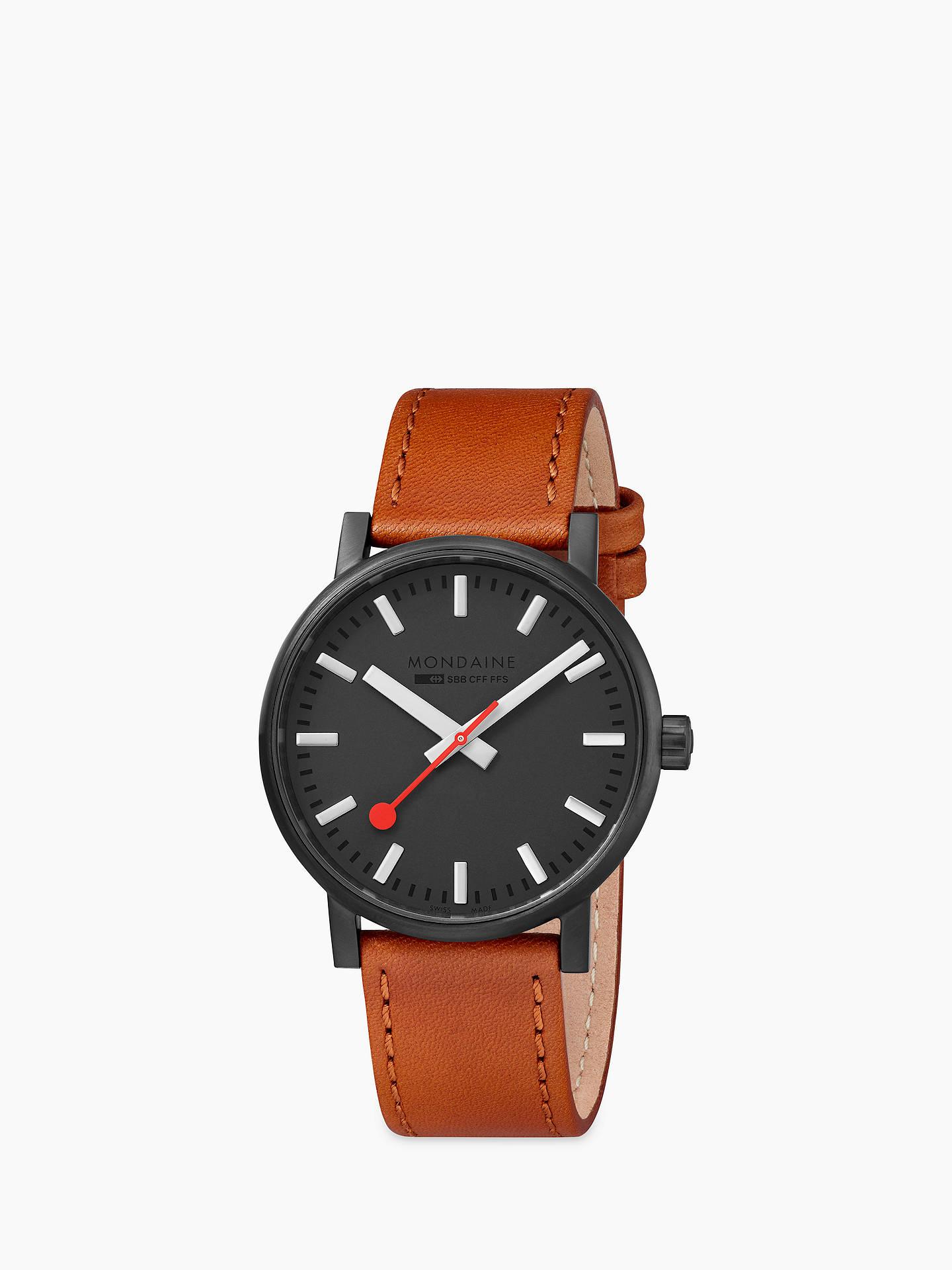 lg Mse Unisex 40120 WatchBlackbrown Leather Mondaine 2 Strap Evo lOPkuXiTwZ
