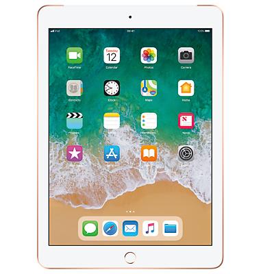 Image of 2018 Apple iPad 9.7, A10, iOS 11, Wi-Fi & Cellular, 32GB, Gold