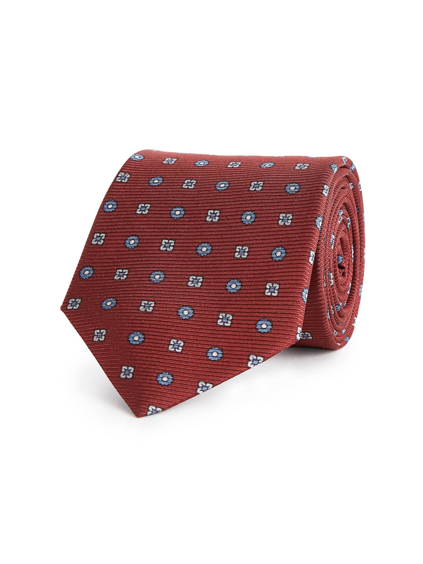 48a54ed84cbe Buy Reiss Noah Floral Silk Tie, Bordeaux Online at johnlewis.com ...