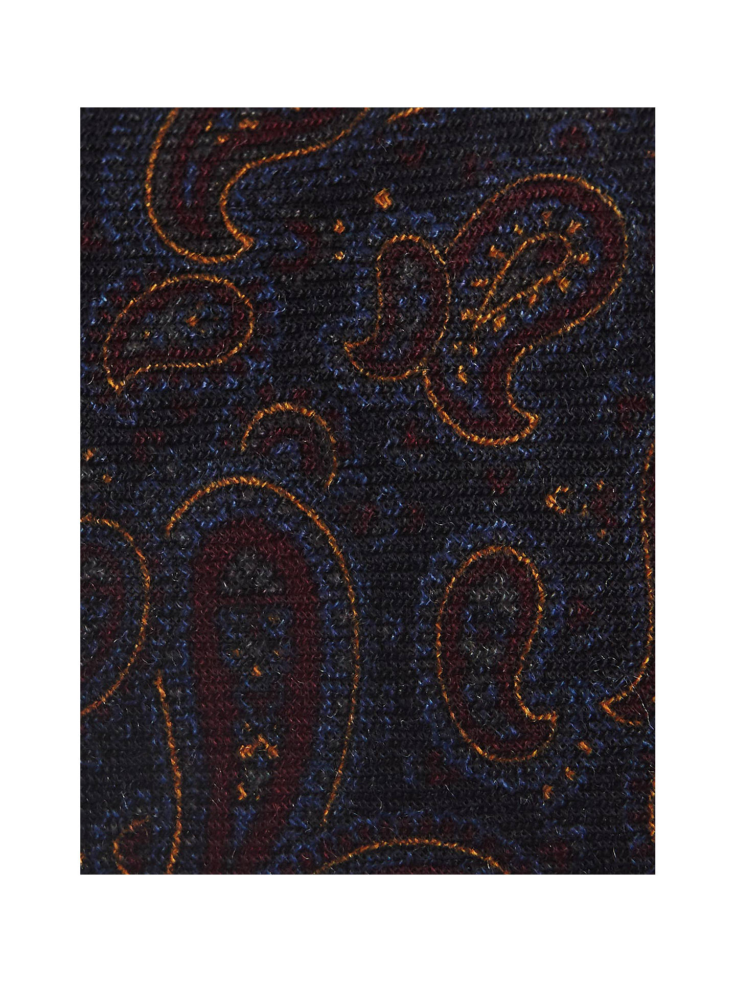 Buy Reiss Jayden Wool Paisley Tie, Navy Online at johnlewis.com