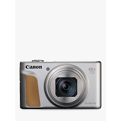 Image of Canon PowerShot SX740 HS Digital Camera, 4K Ultra HD, 20.3MP, 40x Optical Zoom, Wi-Fi, Bluetooth, 3 Tiltable Screen