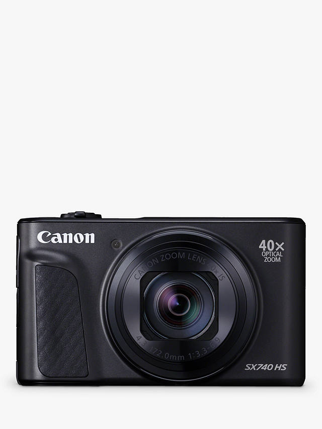 "Buy Canon PowerShot SX740 HS Digital Camera, 4K Ultra HD, 20.3MP, 40x Optical Zoom, Wi-Fi, Bluetooth,  3"" Tiltable Screen, Black Online at johnlewis.com"