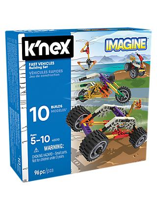 K'Nex 45510 Fast Vehicles Building Set