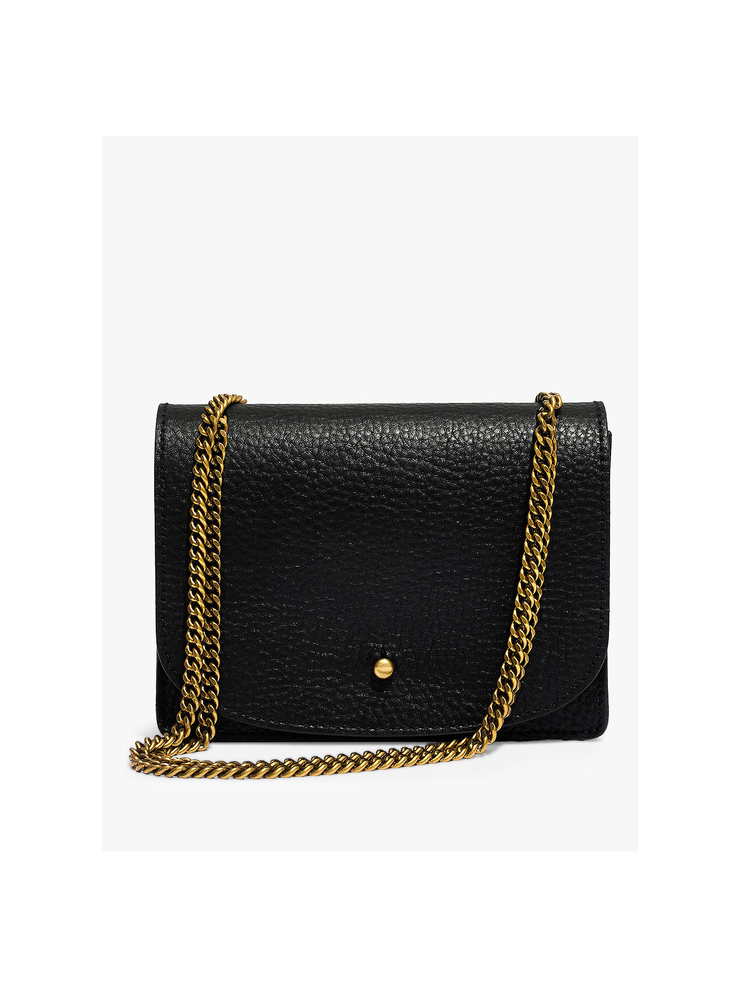 536d83975 Buy Madewell The Chain Crossbody Bag, Black Online at johnlewis.com ...