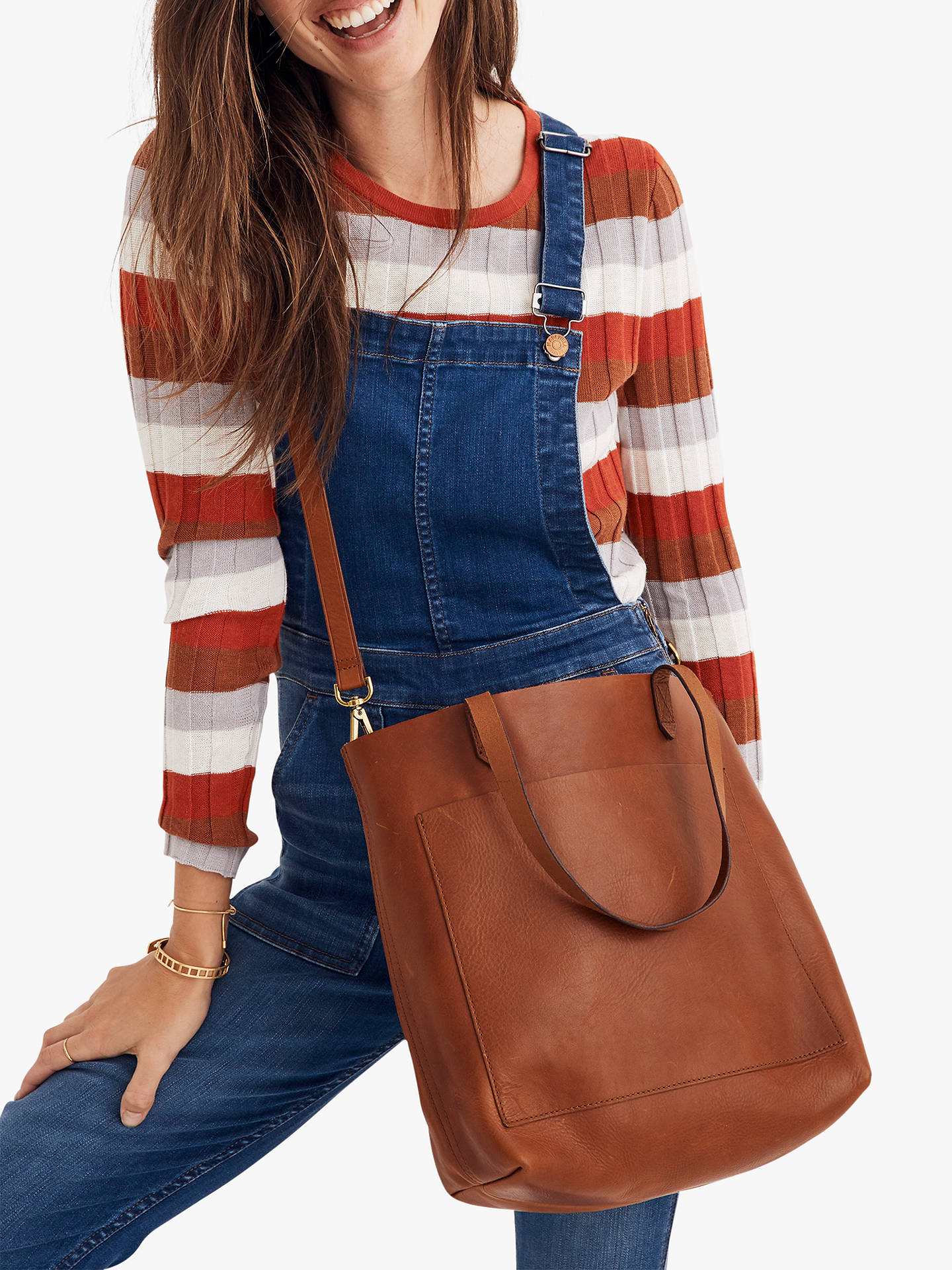 7870fd1a62e8 Madewell Leather Medium Transport Tote Bag at John Lewis   Partners