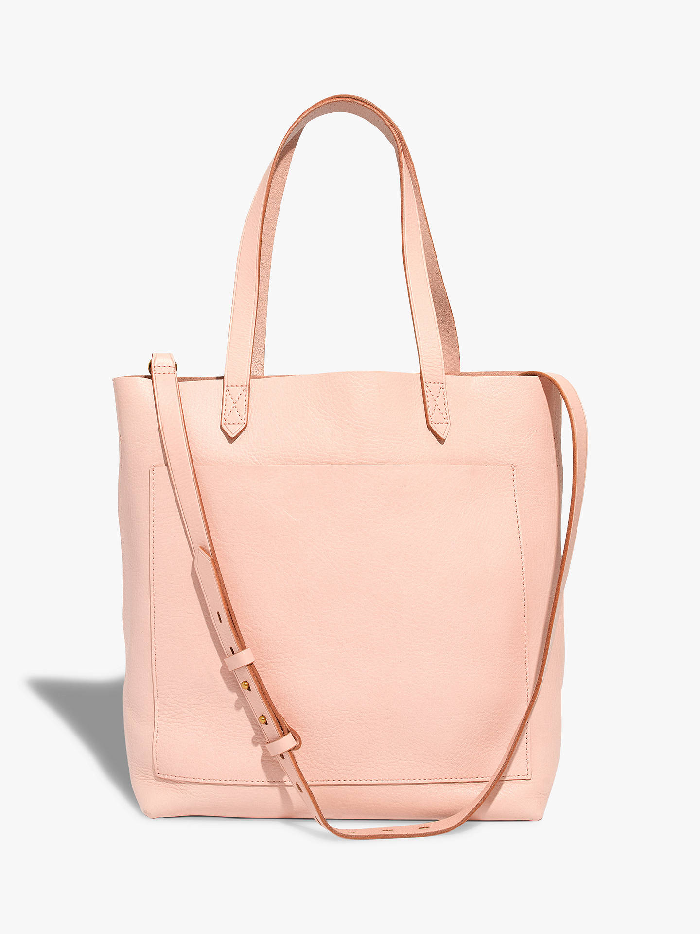 59adf95be Buy Madewell Leather Medium Transport Tote Bag, Sheer Pink Online at  johnlewis.com ...