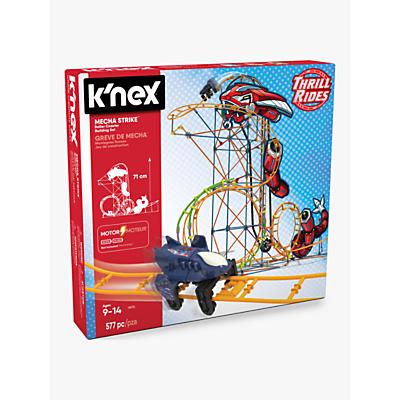 Image of K'Nex Thrill Rides Mecha Strike Roller Coaster Building Set