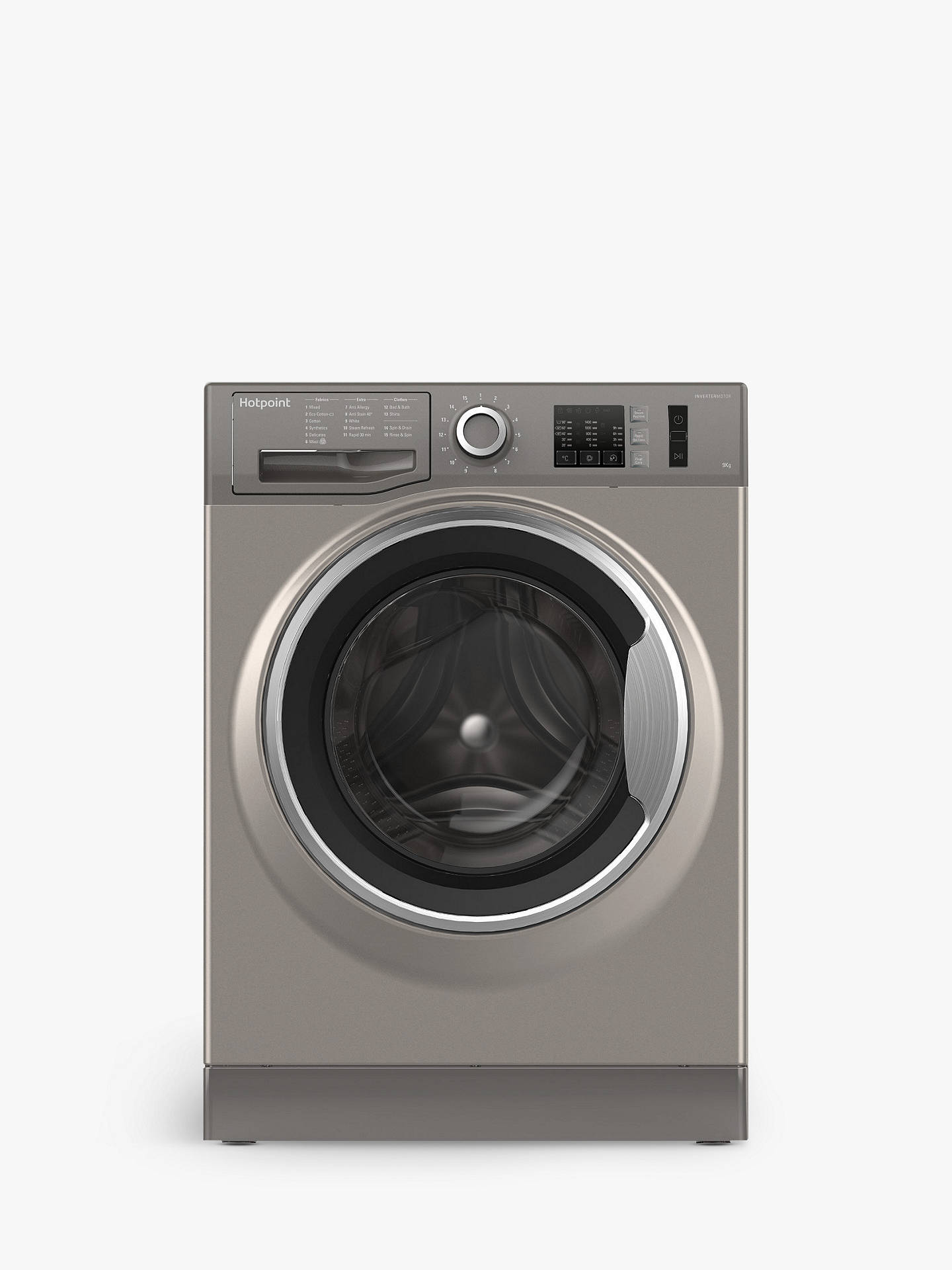 Buy Hotpoint NM10944GSUK Freestanding Washing Machine, 9kg Load, A+++ Energy Rating, 1400rpm Spin, Graphite Online at johnlewis.com