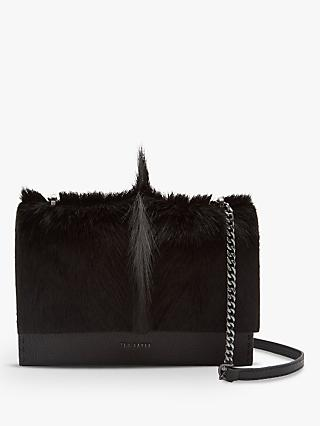 Ted Baker Hetther Leather Cross Body Bag Black