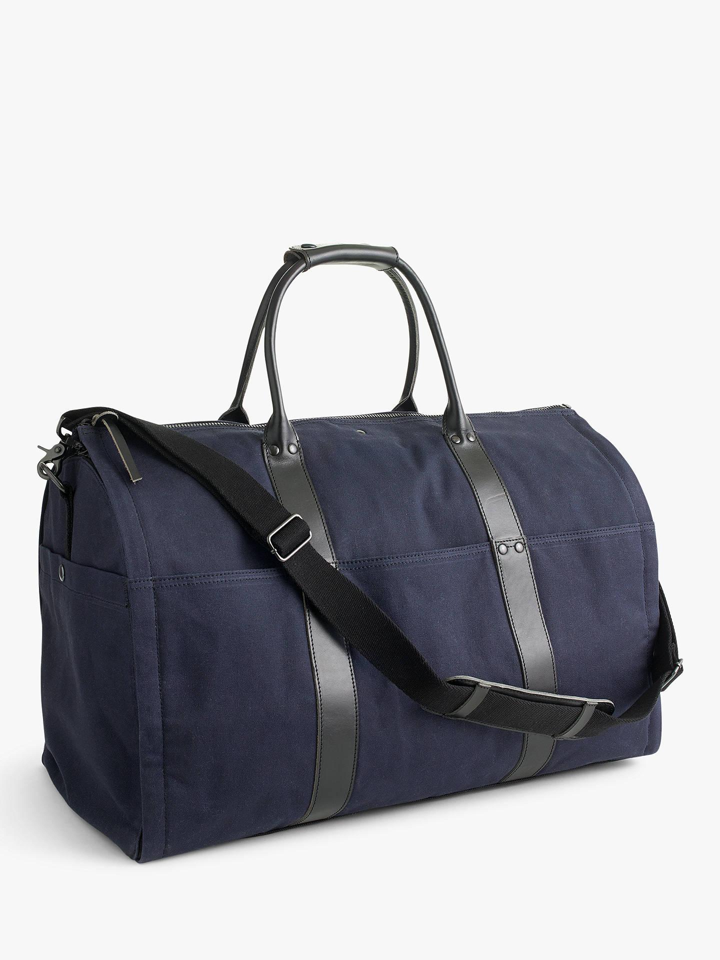 dea1d5b53814 Buy J.Crew Ludlow Garment Duffel Bag, Navy/Black Online at johnlewis.
