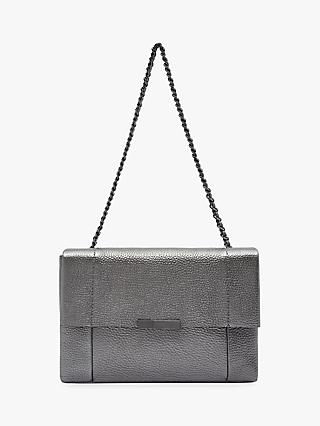 Ted Baker Gennaa Leather Shoulder Bag Grey Gunmetal