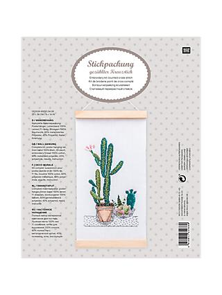 Rico Design Hanging Cactus Picture Cross Stitch Kit