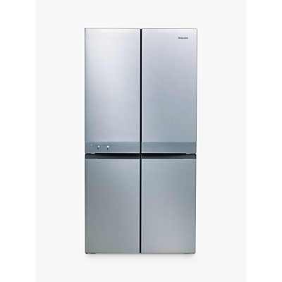 Hotpoint HQ9E1L American-Style Freestanding Fridge Freezer, A+ Energy Rating, 90.9cm Wide, Stainless Steel