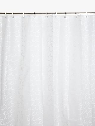 John Lewis Partners Peva Sea Loop Shower Curtain