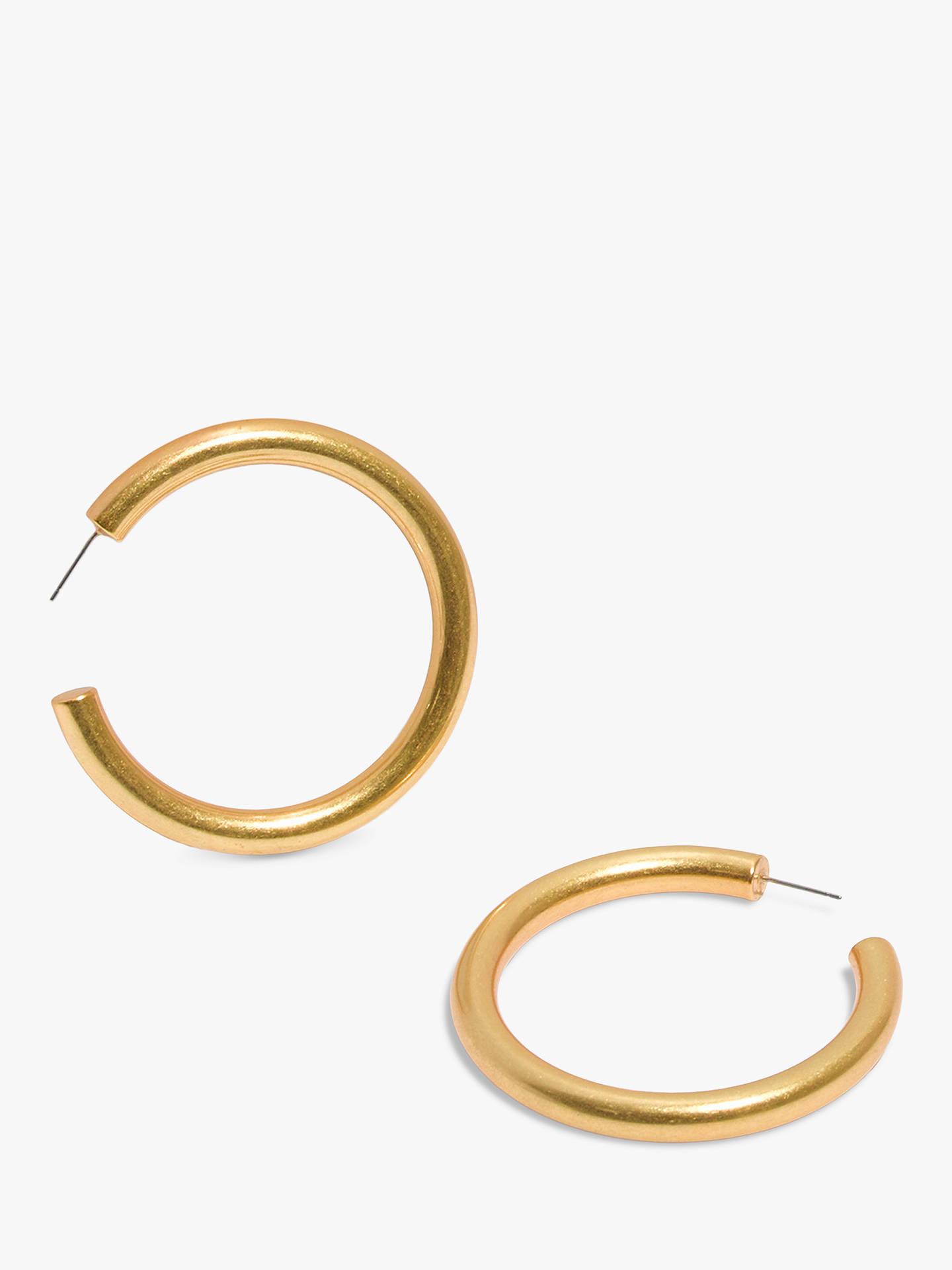 Madewell Chunky Hoop Earrings Vintage Gold Online At Johnlewis