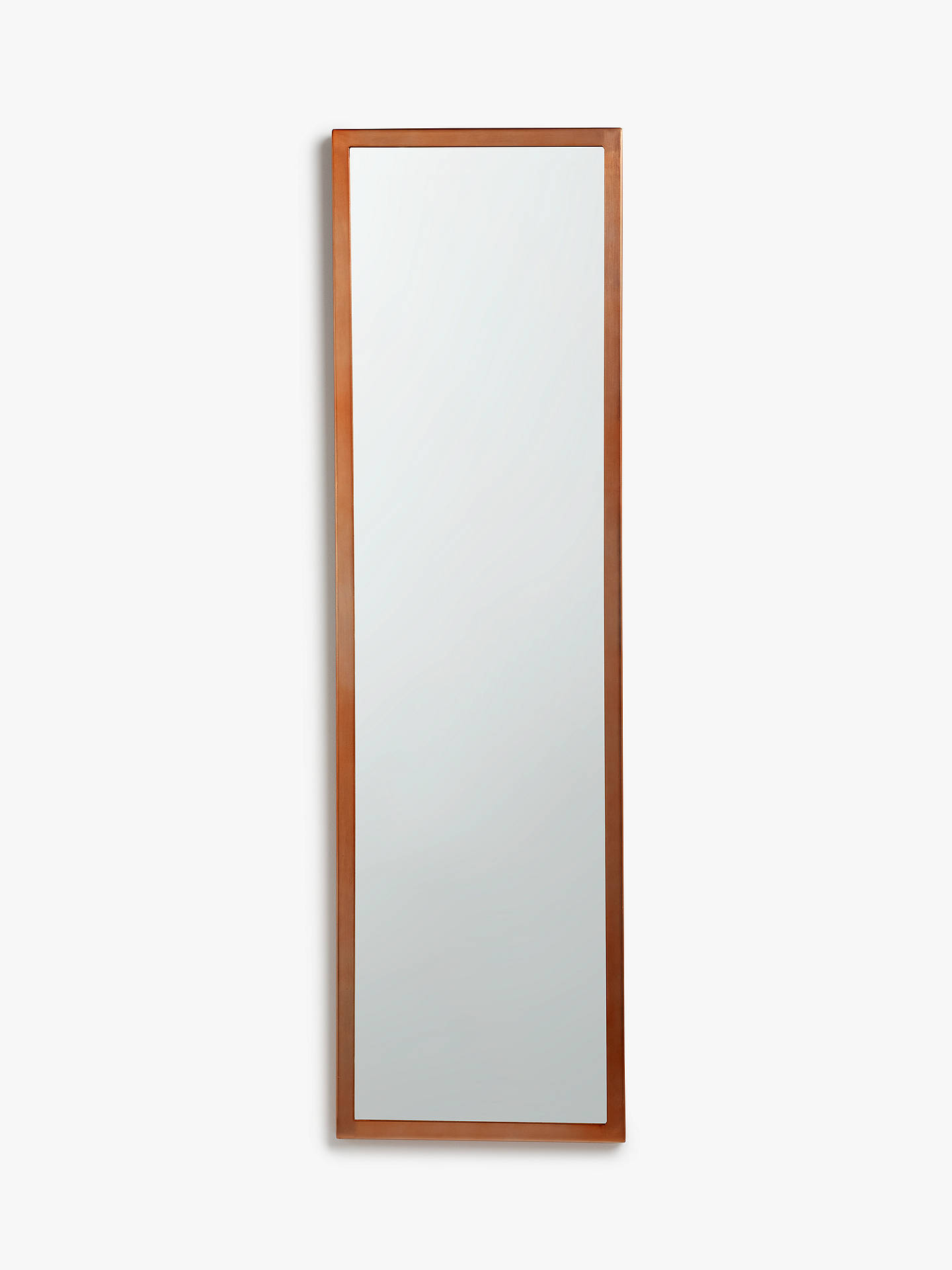 Buy John Lewis & Partners Ivey Rectangular Mirror, 107 x 31cm, Copper Online at johnlewis.com