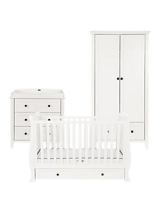 Silver Cross Nostalgia Sleigh Cotbed, Dresser and Wardrobe, Ivory