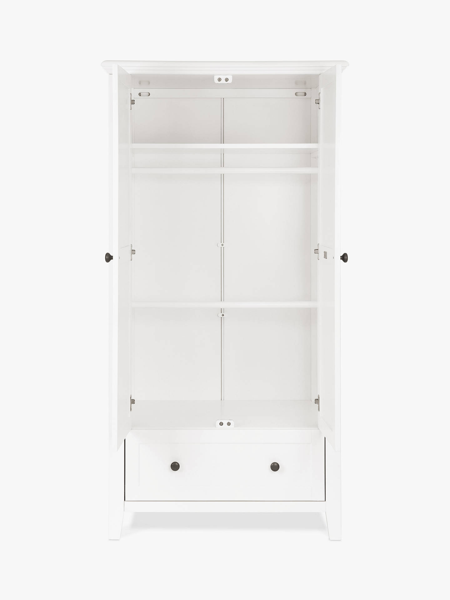 BuySilver Cross Nostalgia Sleigh Cotbed and Wardrobe, Pure White Online at johnlewis.com