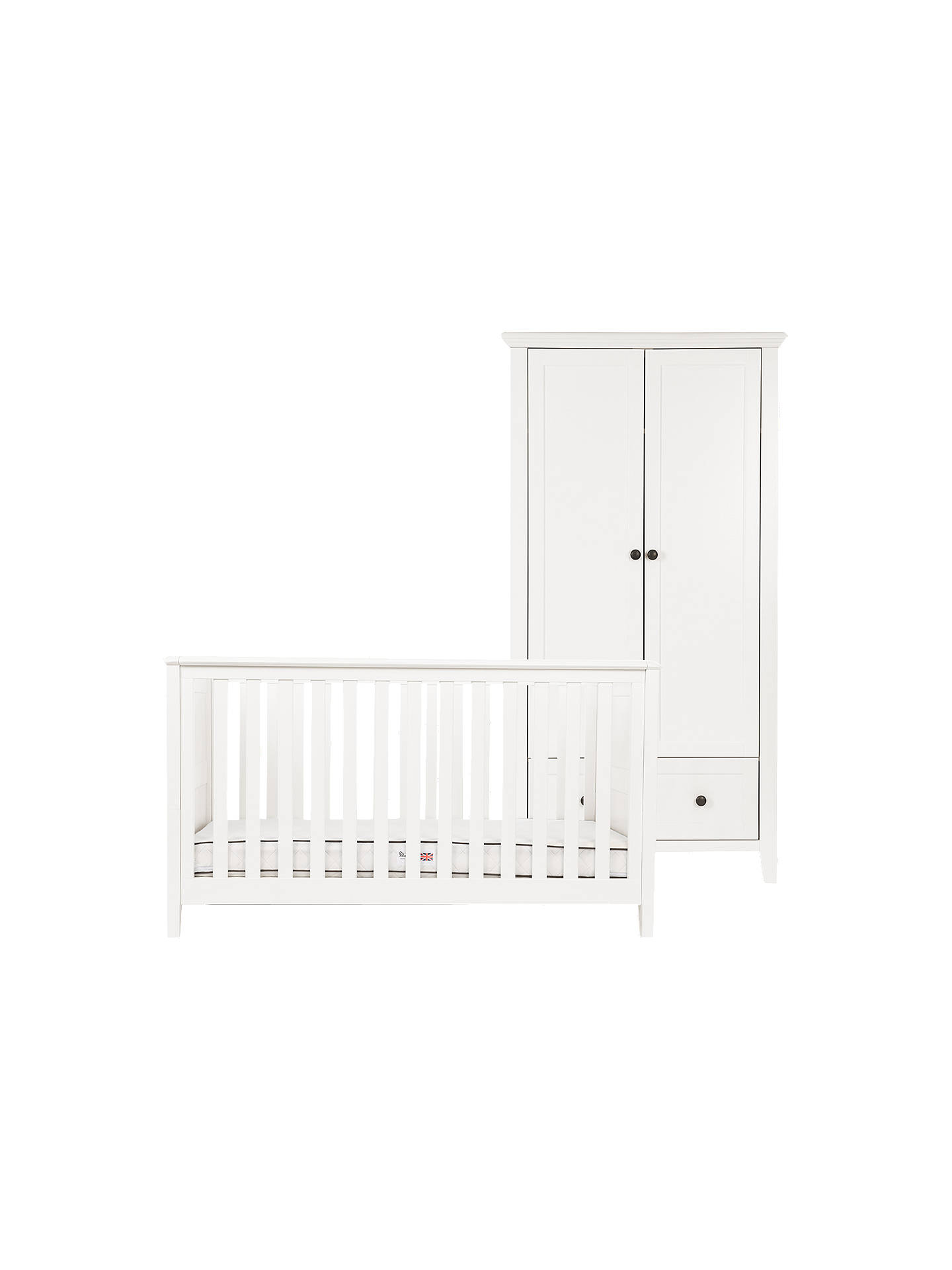 Buy Silver Cross Nostalgia Cotbed and Wardrobe, Ivory Online at johnlewis.com