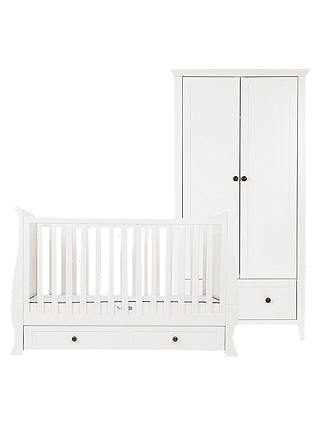 Buy Silver Cross Nostalgia Sleigh Cotbed and Wardrobe, Ivory Online at johnlewis.com
