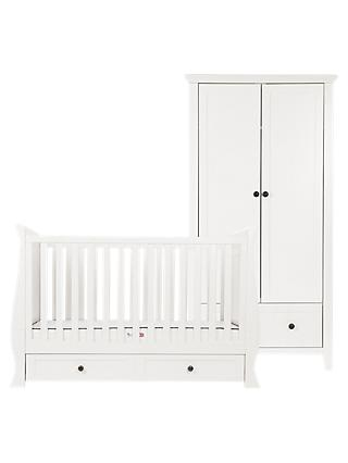 Silver Cross Nostalgia Sleigh Cotbed and Wardrobe, Ivory