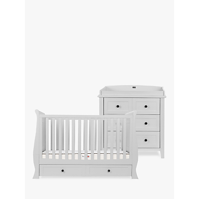Silver Cross Nostalgia Sleigh Cotbed and Dresser, Dove Grey