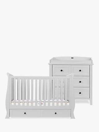 Silver Cross Nostalgia Sleigh Cotbed and Dresser, Dove Grey
