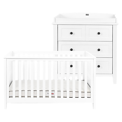 Silver Cross Nostalgia Cotbed and Dresser, Pure White