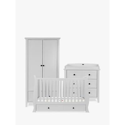 Silver Cross Nostalgia Sleigh Cotbed, Dresser and Wardrobe, Dove Grey