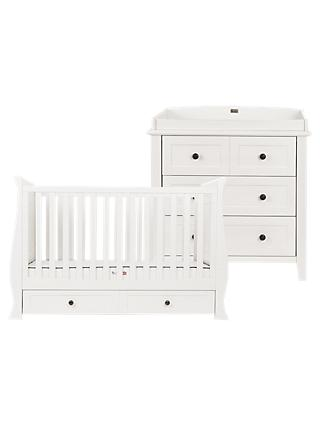 Silver Cross Nostalgia Sleigh Cotbed and Dresser, Ivory