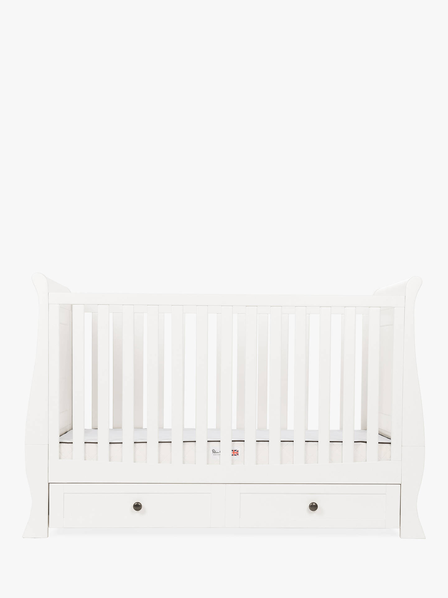 BuySilver Cross Nostalgia Sleigh Cotbed and Dresser, Ivory Online at johnlewis.com