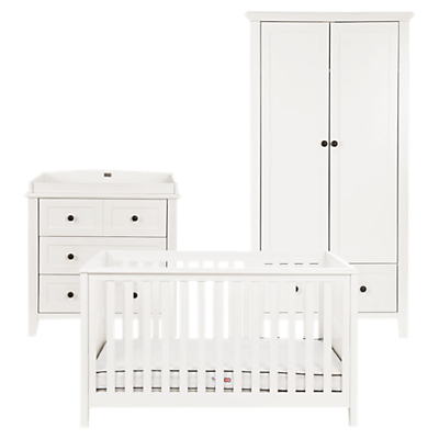 Silver Cross Nostalgia Cotbed, Dresser and Wardrobe, Ivory