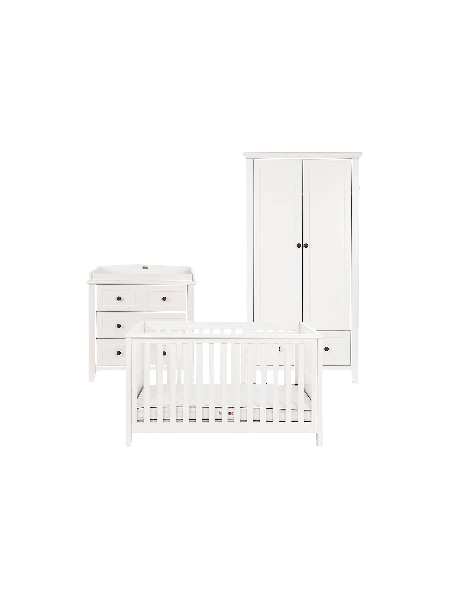 Buy Silver Cross Nostalgia Cotbed, Dresser and Wardrobe, Ivory Online at johnlewis.com