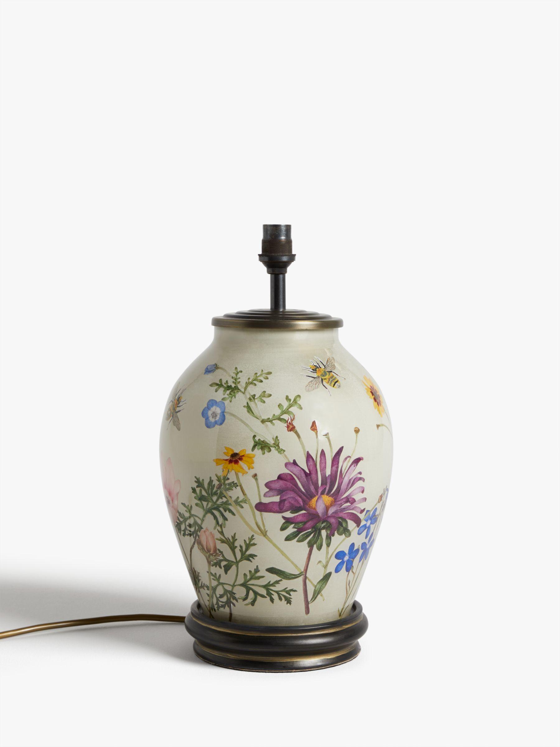 Jenny Worrall Jenny Worrall Wild Flowers Glass Lamp Base, Multi, H34cm