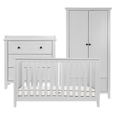 Silver Cross Nostalgia Cotbed, Dresser and Wardrobe, Dove Grey