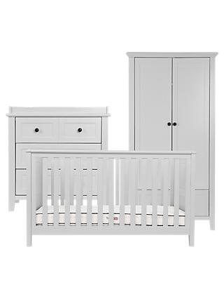 Silver Cross Nostalgia Cotbed, Dresser and Wardrobe, Dove Grey