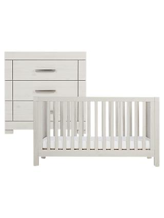 Silver Cross Coastline Cotbed and Dresser, Textured Washed Oak