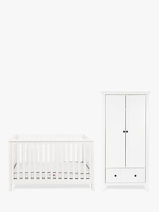 Silver Cross Nostalgia Cotbed and Wardrobe, Pure White