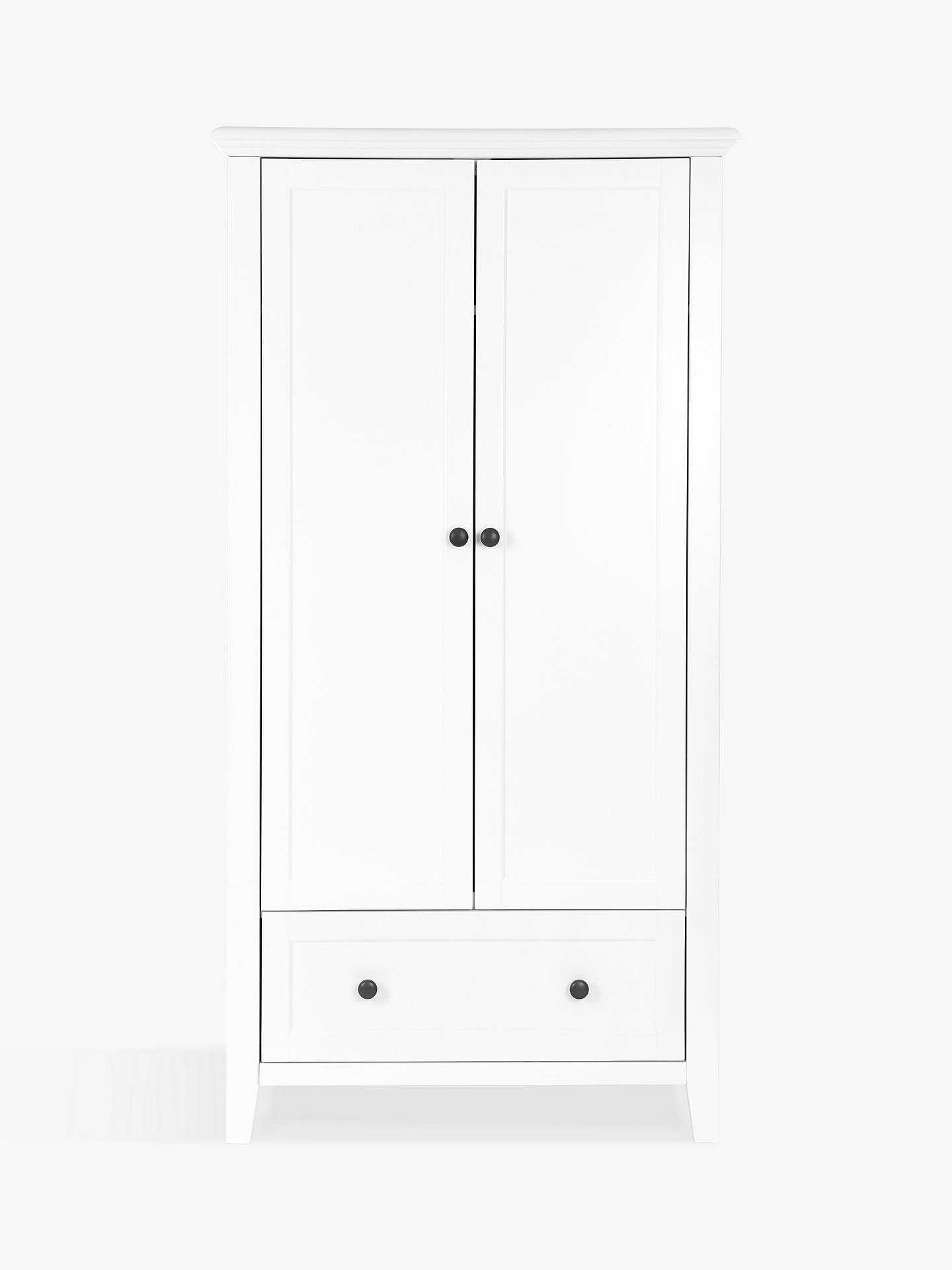 BuySilver Cross Nostalgia Cotbed and Wardrobe, Pure White Online at johnlewis.com